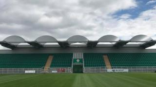 The new stand at McGovern Park at Ruislip in London