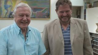 Sir David Attenborough with Michael