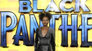 Nyota wa filamu Black Panther, Lupita Nyong'o katika uzinduzi wa filamu hio Ulaya