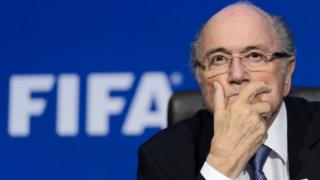 Sepp Blatter at Fifa headquarters in Zurich (20 June 2015)