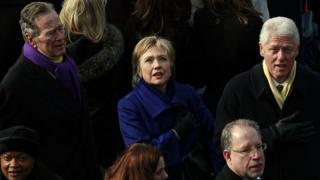 Clinton na Bush