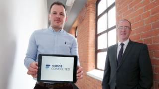 Gary Tyre of Foods Connected with Invest NI's Des Gartland