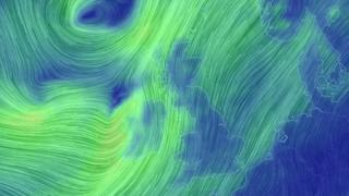 Weather map showing storm over UK