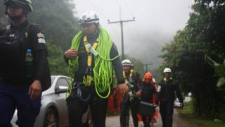 Rescuers in Chiang Rai (27 June)