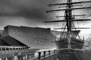 The new V&A museum and RRS Discovery in Dundee.