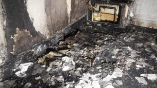 sports Burnt out room