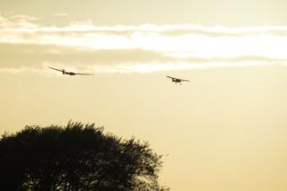 Ken Murray visited the Scottish Gliding Centre, in Fife, for some air experience flights. The photo is of the last aerotow of the evening.