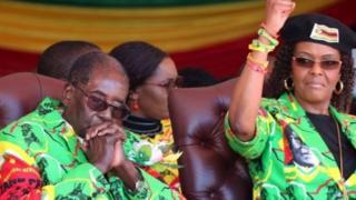 Bi Mugabe na mkewe Grace Mugabe