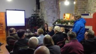 The public meeting at Weymouth's old town hall
