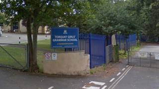 Torquay Girls Grammar School sign