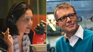 Mishal Husain and Nicky Campbell