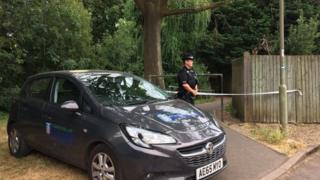 Police at scene of Abingdon stabbing