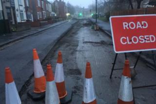 Scene of gas leak in Hatfield House Lane, Sheffield