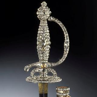 An item of jewellery stolen during a robbery from the Green Vault city palace in Dresden