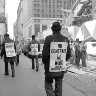 Man on strike