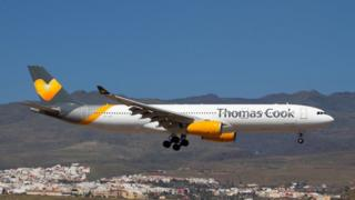 Thomas Cook Airlines Scandinavia Airbus 330-300 landing at Las Palmas Gran Canaria airport