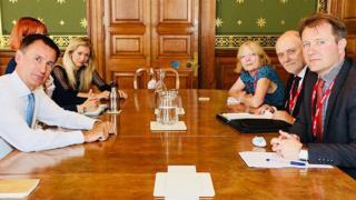 Foreign Secretary Jeremy Hunt meets Richard Ratcliffe