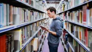 Students in libraries