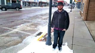 Josh Harms in Sibley, Iowa