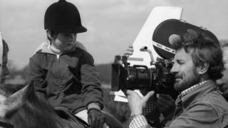 Edwards Barnes is seen here with a camera on Blue Peter