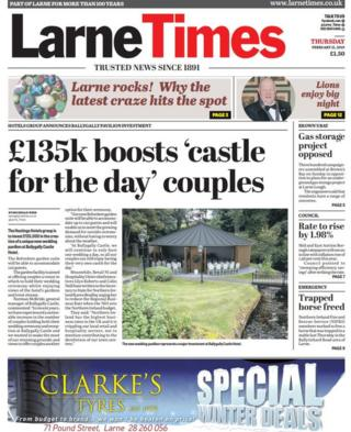 front page Larne Time Thursday 21 February 2019