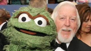 Kittens Oscar the Grouch and Caroll Spinney