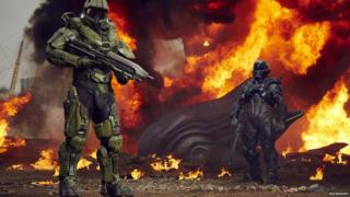 Halo characters Master Chief and Spartan Locke
