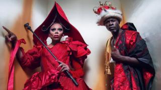 RuPaul and Djimon Hounsou