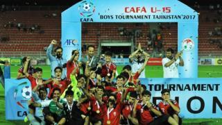 افغانستان قهرمان فوتبال زیر ۱۵ سال آسیای مرکز شد