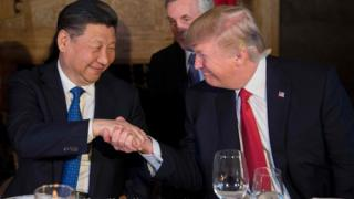 Trump and Xi at dinner