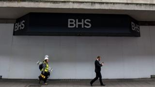 An empty BHS store in London