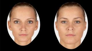 Example of facial images used in research
