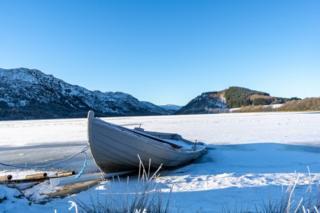Frozen Loch Ruthven, Farr, near Inverness.