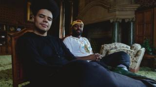 Hip-hop artist Otis Mensah with Sheffield's Lord Mayor Magid Magid