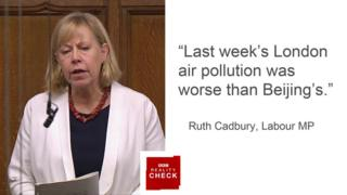 Ruth Cadbury saying: Last week's London air pollution was worse than Beijing's