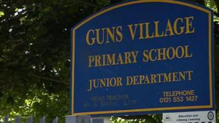 Guns Village School sign