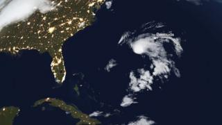 Satellite view of storm