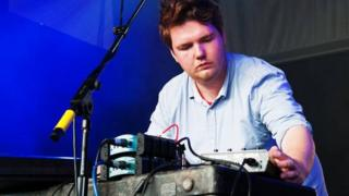 Chad Valley on stage at T in the Park