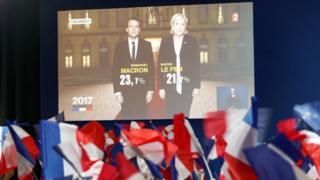 نسبت نهایی رایهای مارین لوپن و امانوئل مکرون