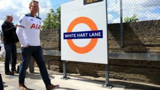 Spurs fan arriving at White Hart Lane station