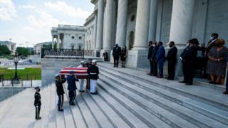 in_pictures The casket carrying Congressman John Lewis arrives on the East Front of the US Capitol