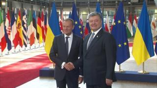 Порошенко и Туск в Брюсселе