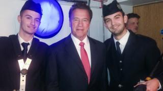 Craig Weir meets Arnold Schwarzenegger