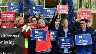 RCN members demonstrating earlier this month
