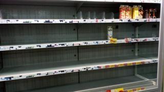 empty milk shelves