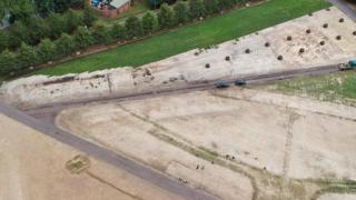 Turf being relaid at Glasgow green