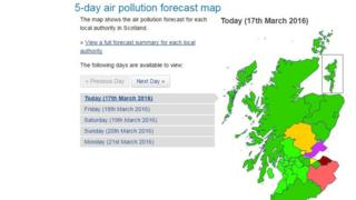 Air Quality in Scotland map