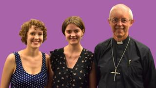 Katherine, Ellie and the Most Reverend Justin Welby
