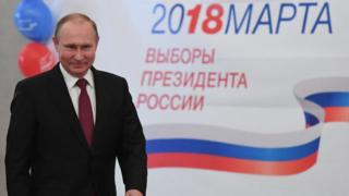 Russia President Vladmir Putin on March 18