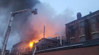 Blandford warehouse fire